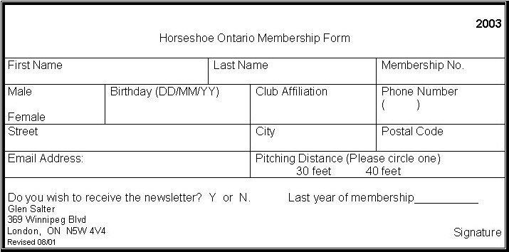 Horseshoe Ontario Newsletter